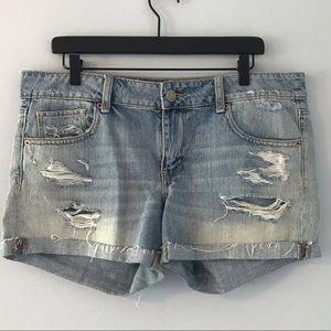 AEO ripped denim shorts